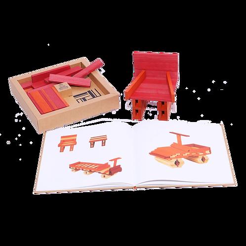Kapla livre et couleurs rouge