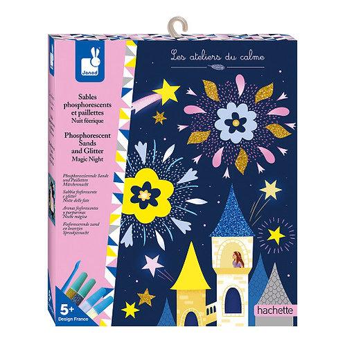 Kit créatif Sables phosphorescents et paillette nuit féérique