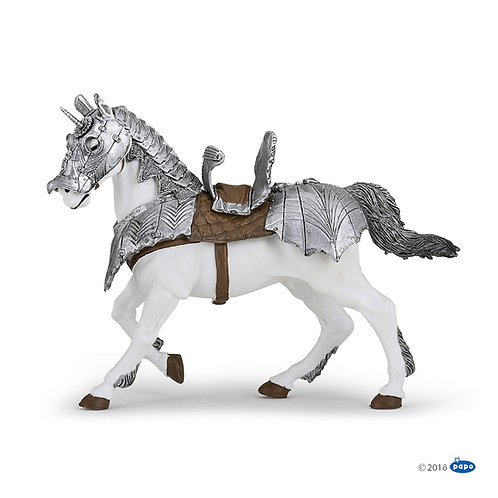Figurine cheval en armure Papo