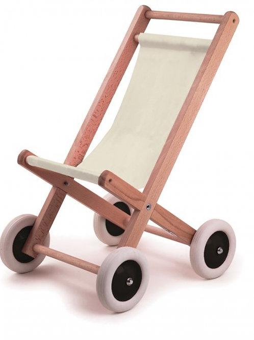Buggy en bois avec tissu naturel Egmont Toys