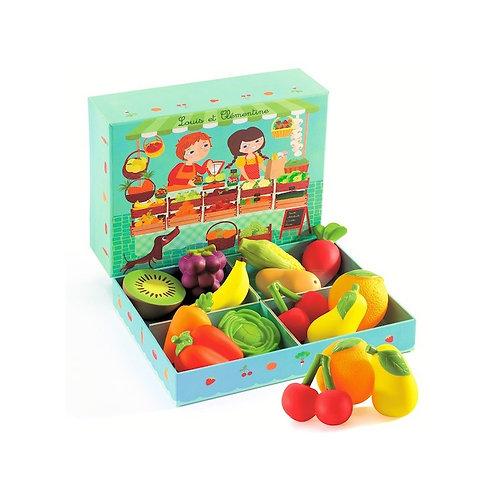 Louise et Clémentine fruits et Légumes Djeco