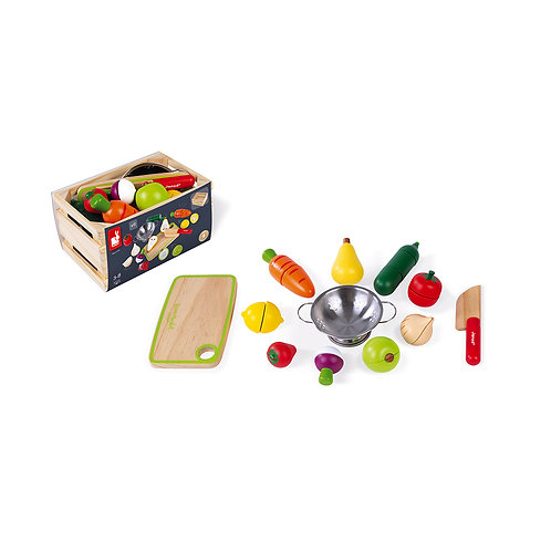 Maxi set fruits et légumes à découper Green Market