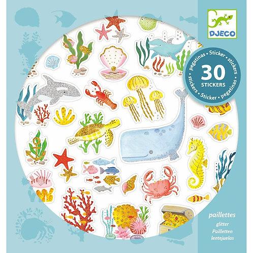 Stickers paillettes Aqua dream Djeco