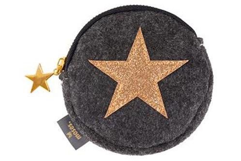 Porte monnaie étoile or en feutre Moses