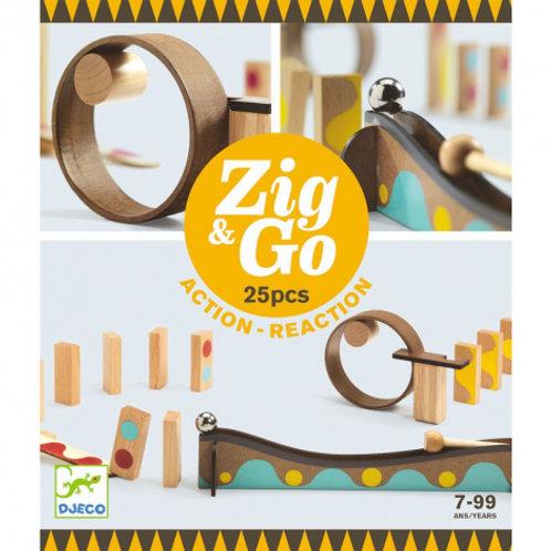Zig and go 25 pièces  Djeco