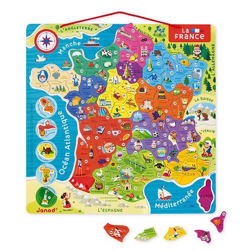 Carte de France Janod