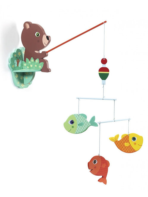 Mobile ours à la pêche Djeco