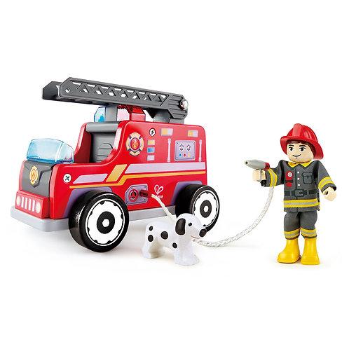 Camion pompiers en bois Hape
