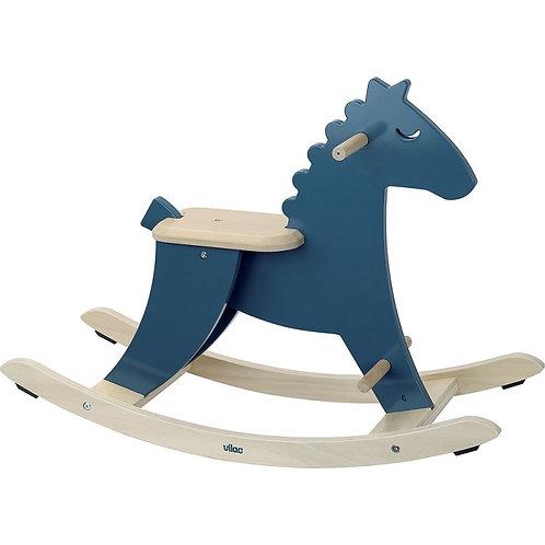 Hudada cheval à bascule bleu paon Vilac