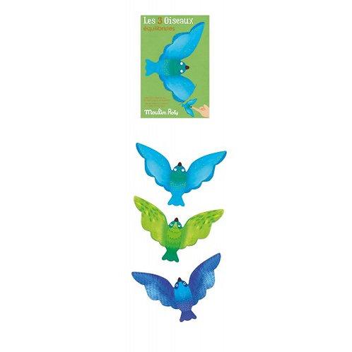 Set de 3 oiseaux équilibristes