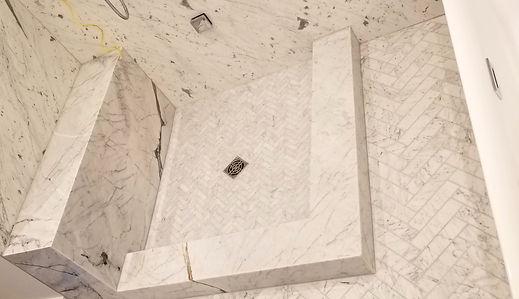 quartz shower renovation