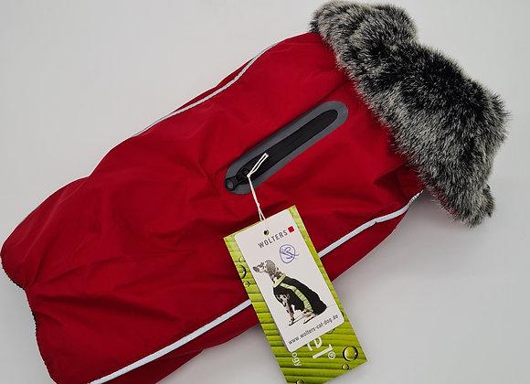 Wolters Wintermantel Rot mit Kunstpelz-Kragen