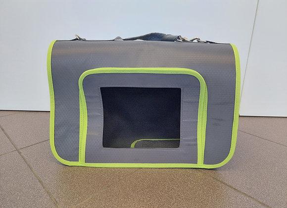 Grau/grüne Hundetasche