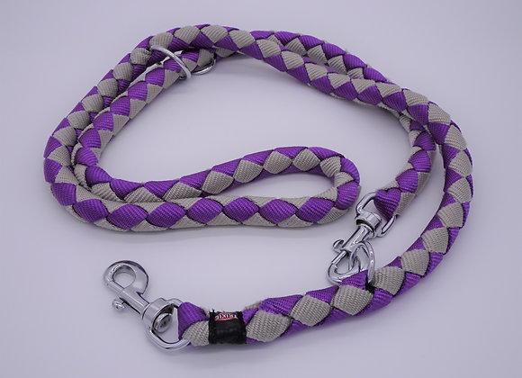 Violett / Graue Leine