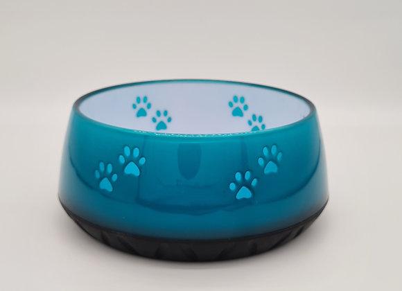 Hundenapf aqua mit Pfoten