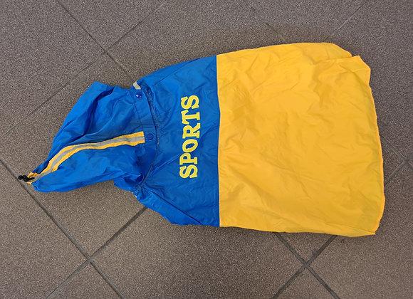Gelb/Blauer Sports Regen/Fleece Mantel