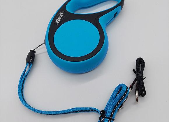 Blaue Flexi Leine 5m Cord