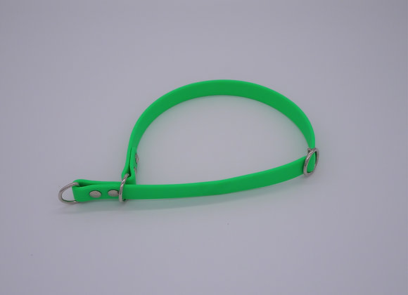 Grünes Biothane  Zugstopp Halsband
