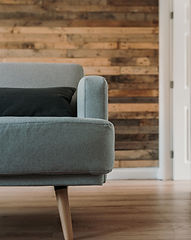 Canva - Gray Fabric Sofa Near White Wood