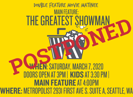 POSTPONED! Annual Movie Matinee Will be Rescheduled