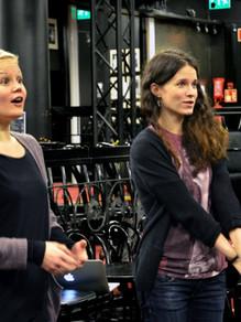 © Aija Sillanpää  Choreographer Mariikka Santaharju & director Jemina Sillanpää.