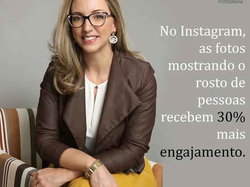 No Instagram retratos recebem 30% mais engajamento