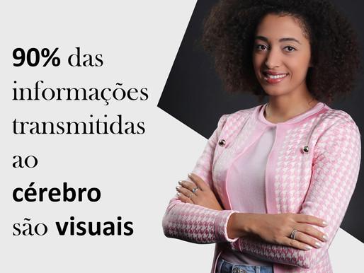 90% das informações transmitidas ao cérebro são visuais