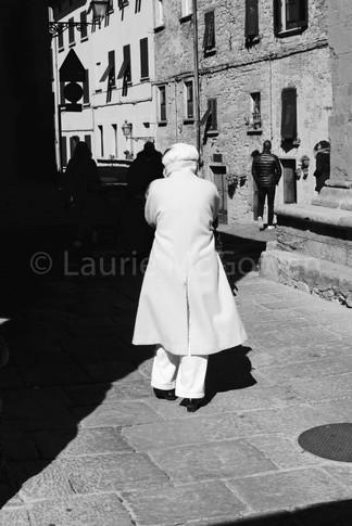 Woman in White Coat