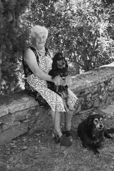 Signora with her Dogs