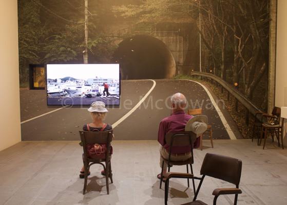 Couple in Art Installation