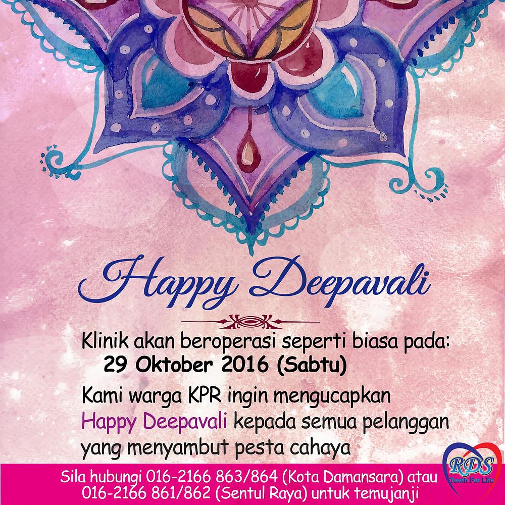 Klinik Pergigian Rohaya Happy Deepavali