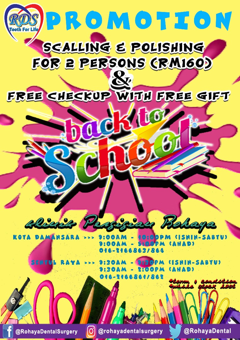 Back to School Scaling and Polishing Promotion