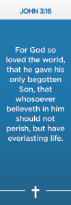 John 3:16 Scripture Bookmark -Pack of 10