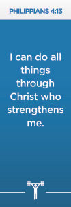 Philippians 4:13 Scripture BookmarkPack of 10