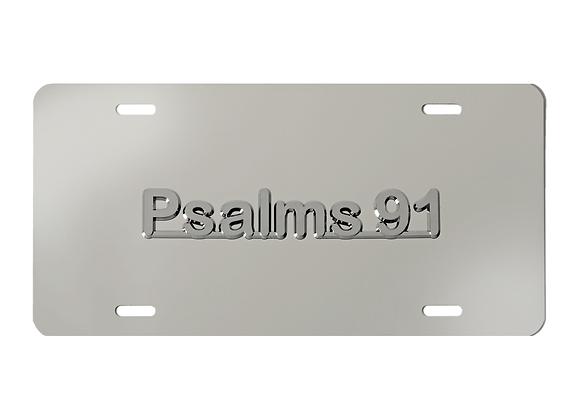 Psalms 91 Mirrored Scripture License Plate