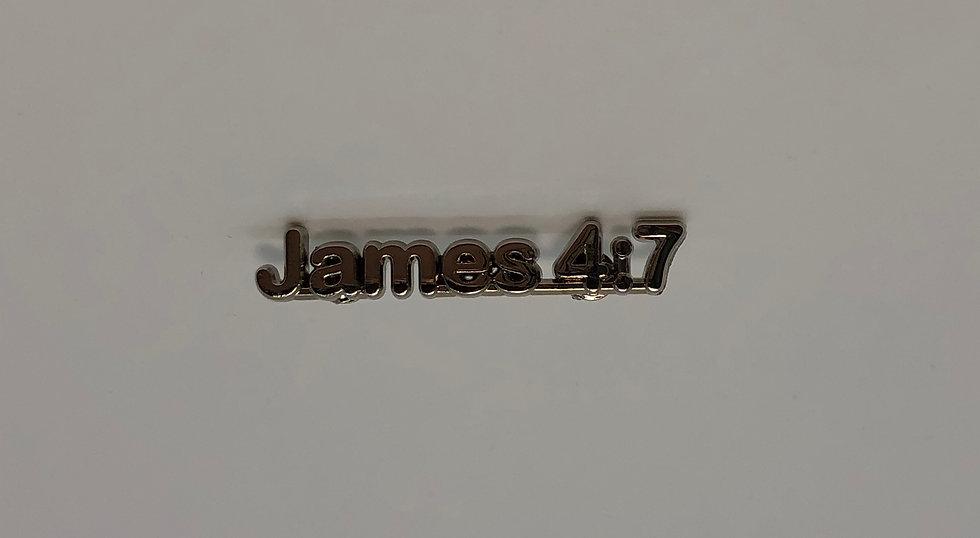 James 4:7 Scripture Pin