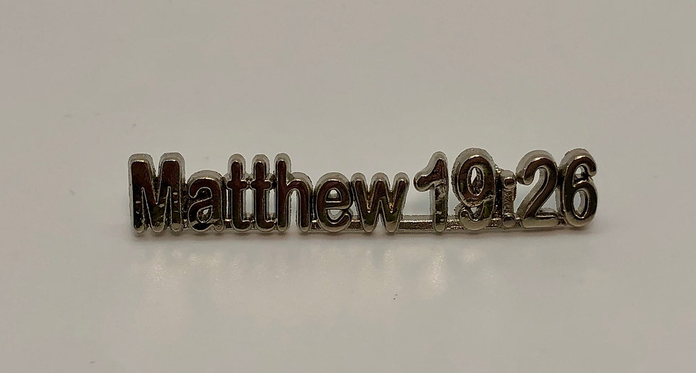 Matthew 19:26 Scripture Pin