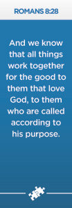 Romans 8:28 Scripture Bookmark -Pack of 10