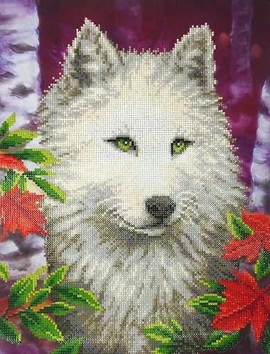 White Wolf Finished Painting