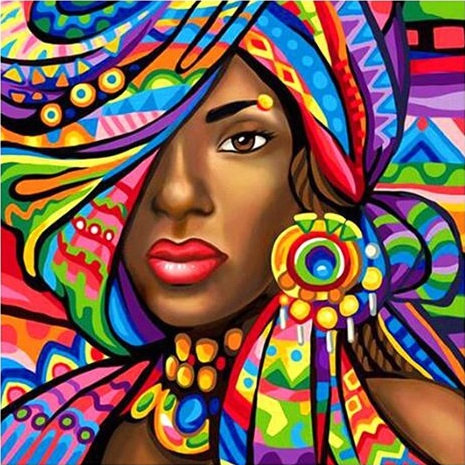 Colourful African Lady