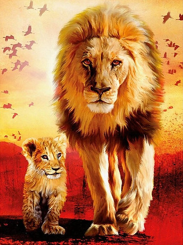 Lion Father & Son