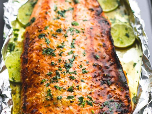 Baked Honey Jerk Salmon