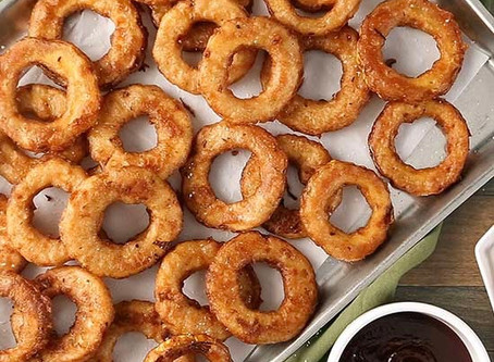 Yellow Squash Rings  For a fun onion ring swap, try these crunchy jerk-seasoned squash rings.