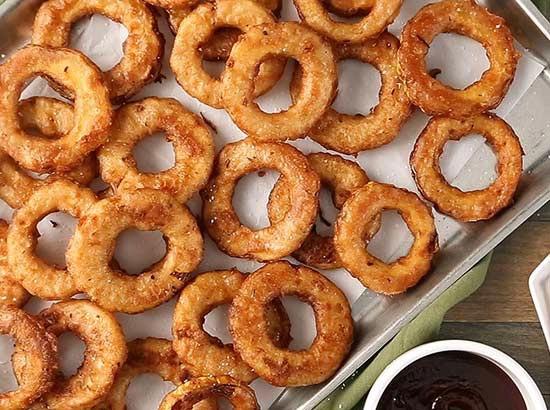 Crunchy jerk-seasoned squash rings