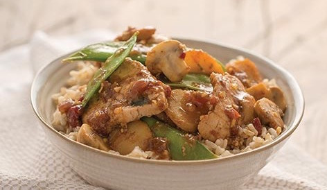 Jamaican Rum Stir Fry with Pork or Tofu