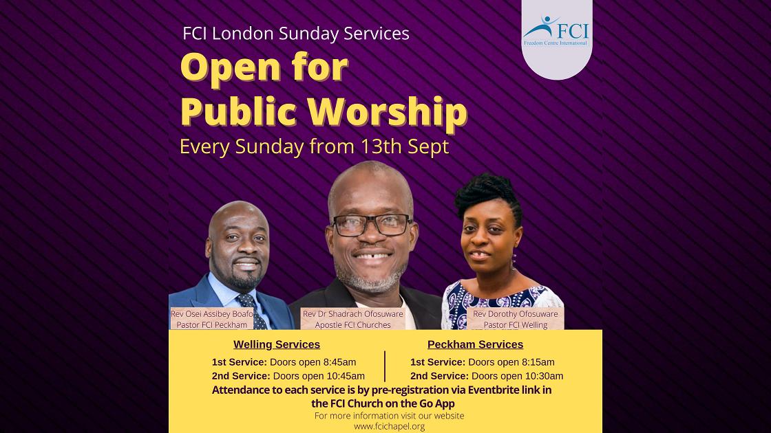 FCI Services Announcement banner