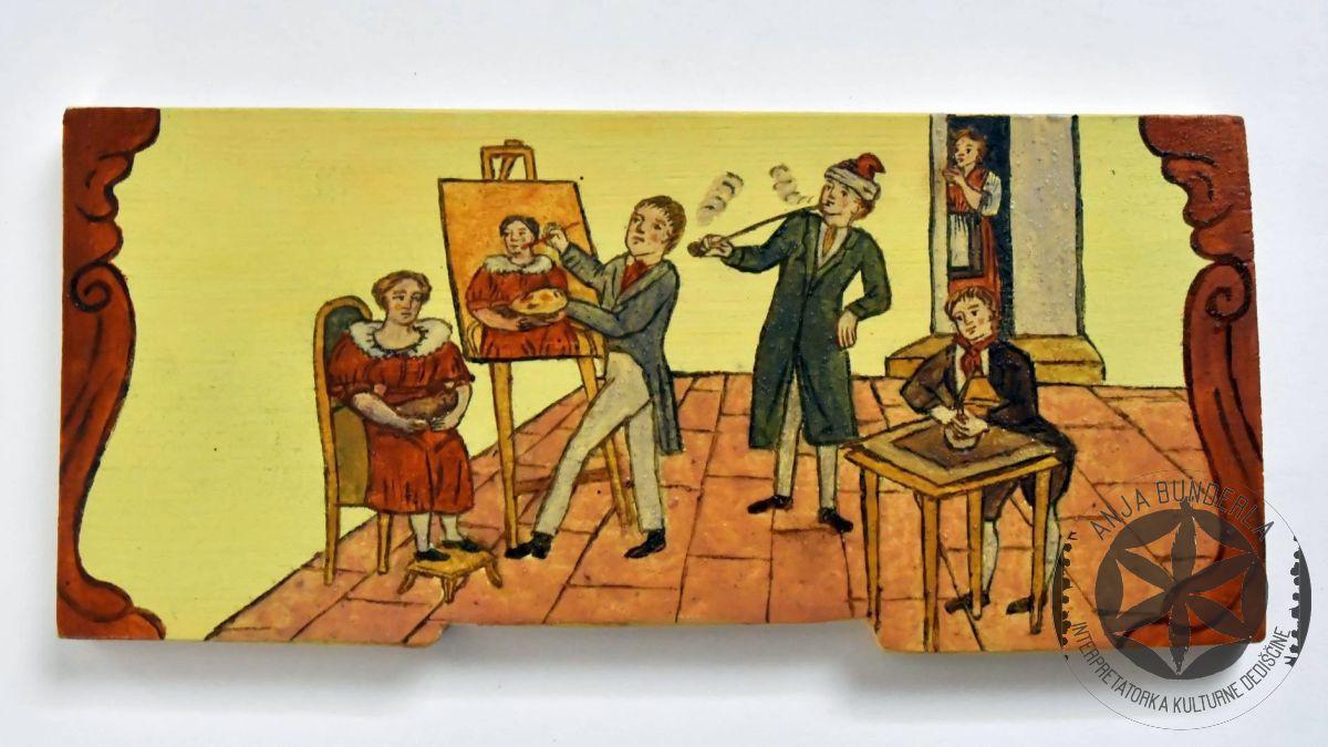 Slikar v ateljeju