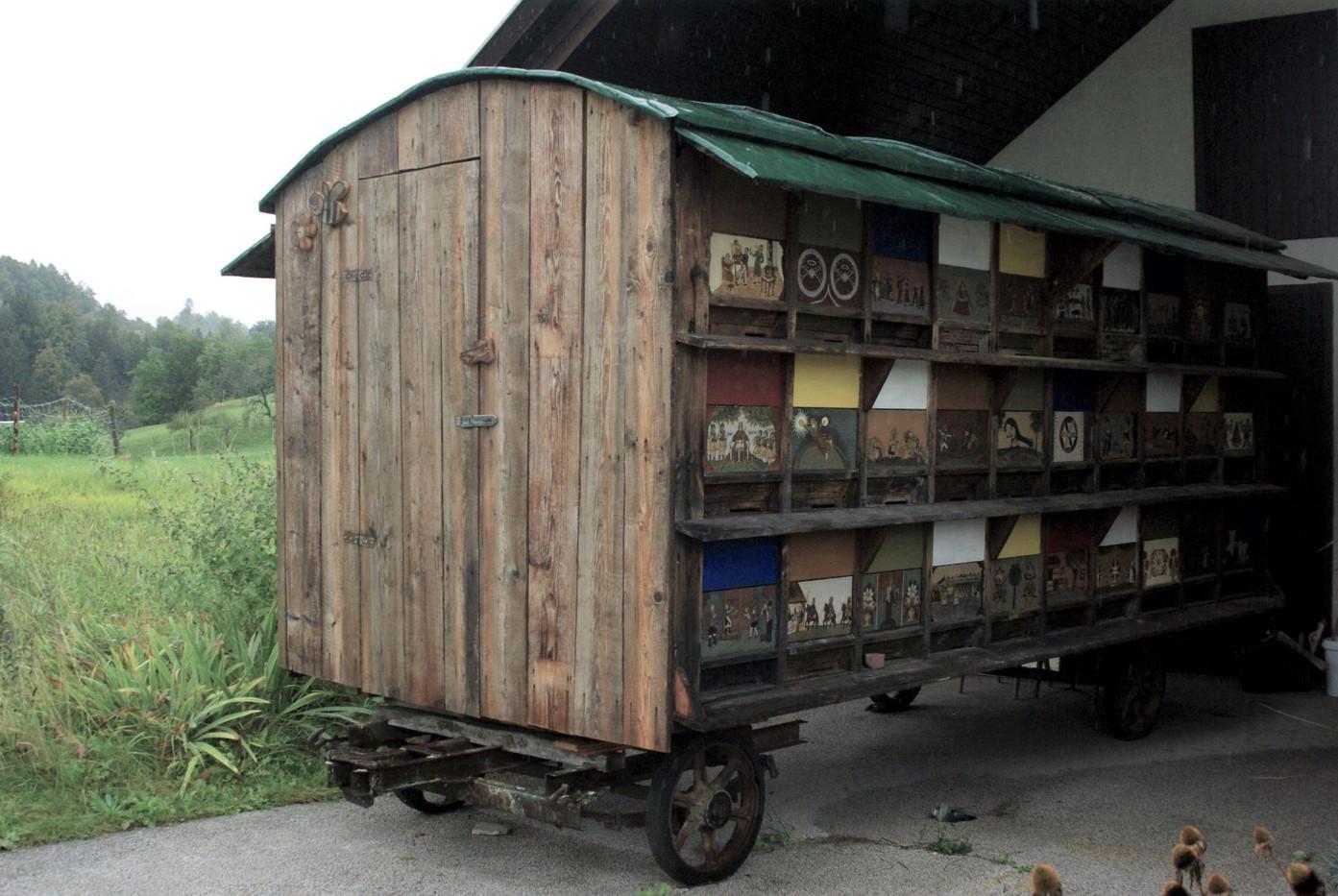 Prevozni čebelnjak - razstavni