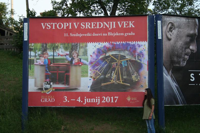 Plakat - Blejski grad