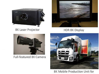 NHK показала оборудование для телевещания с разрешением 8K